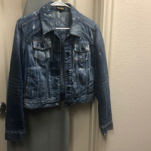 Express acid wash denim jacket